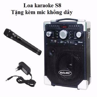 Loa karaoke di động S8 - Bluetooth tặng Micro