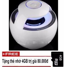 Báo Giá Loa Trứng Bluetooth 360 – Model GS009 (trắng) + Thẻ nhớ 4GB  DIGITEK