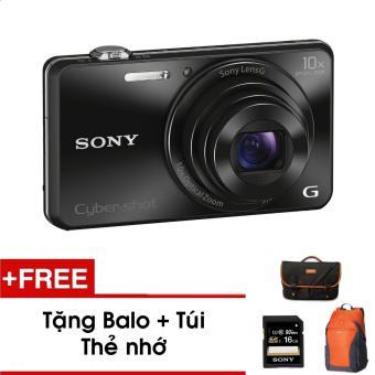 Máy ảnh kỹ thuật số Sony Wx220 (Đen) - Tặng thẻ nhớ - Túi - Balo du lịch Sony - Hàng phân phối chính hãng