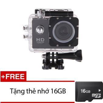 Máy ảnh Mini chống nước chuẩn FULL HD (Đen) + Tặng 1 thẻ nhớ 16GB