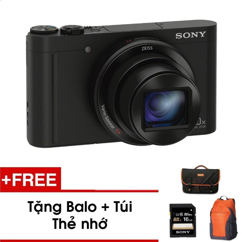 Máy ảnh nhỏ gọn WX500 với Zoom quang học 30x (Đen) - Tặng thẻ nhớ - Túi - Balo du lịch Sony - Hàng phân phối chính hãng