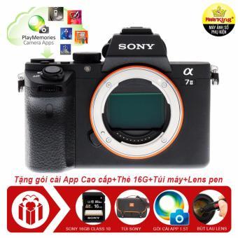 Máy ảnh Sony Alpha A7 mark II 24.3MP Body + Tặng kèm 01 thẻ nhớ 16GB + 01 Túi đựng máy ảnh Sony + 01 Gói cài apps trị giá 1.5tr đồng + 01 Bút lau lens - Hàng nhập khẩu - 8752689 , SO993ELAA8TTSFVNAMZ-17308594 , 224_SO993ELAA8TTSFVNAMZ-17308594 , 50000000 , May-anh-Sony-Alpha-A7-mark-II-24.3MP-Body-Tang-kem-01-the-nho-16GB-01-Tui-dung-may-anh-Sony-01-Goi-cai-apps-tri-gia-1.5tr-dong-01-But-lau-lens-Hang-nhap-khau-224_S