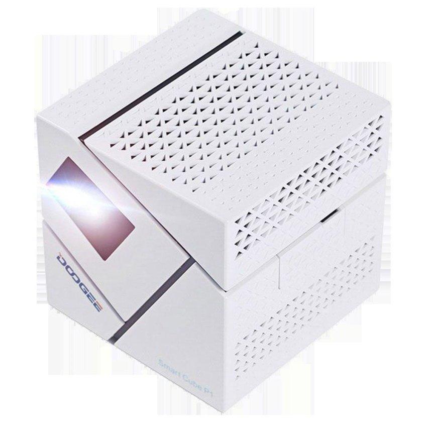 Hình ảnh Máy chiếu Mini projector Android TV Smart Box Smart Cube P1 (Trắng)