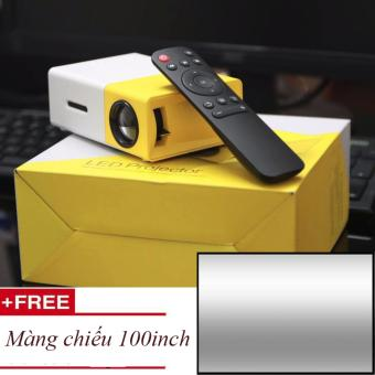 Máy chiếu mini thiết kế nhỏ gọn YG-300 Full HD + Tặng 1 màng chiếu 100 inch  đơn giản 1.140.000 đ