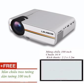 Máy chiếu YG400 giải trí chất lượng cho gia đình có loa ngoài + Tặng màn chiếu 100 inch