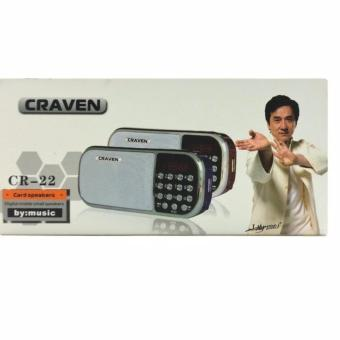 Máy nghe nhạc đa năng ,FM, USB, Thẻ nhớ Craven CR-22 -BR