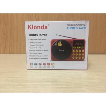 Máy nghe nhạc đa năng USB, thẻ nhớ, đài FM Klonda D78E-Kstore