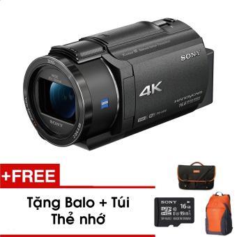 Máy quay Sony 4K FDR-AX40 (Đen) - Tặng thẻ nhớ - Túi - Balo du lịch Sony - Hàng phân phối chính hãng
