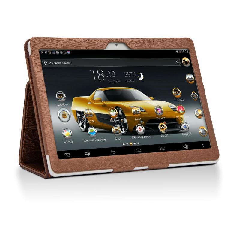 Máy tính bảng cutePAD M9601-phiên bản 2018 wifi/3G 9.6  Vàng gold+ Bao da nâu - Hãng phân phối chính thức
