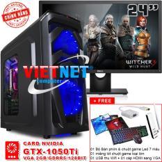 Máy tính chiến game core i7 2600 card GTX-1050Ti RAM 16GB 1TB + LCD Dell 24in VietNet
