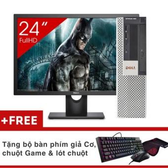 Máy tính để bàn Dell Optiplex 960 SFF + Màn hình Dell 24Inch Full HD (Core 2 Quad Q6600, Ram 8GB, SSD 240GB) + Quà Tặng - Hàng Nhập Khẩu