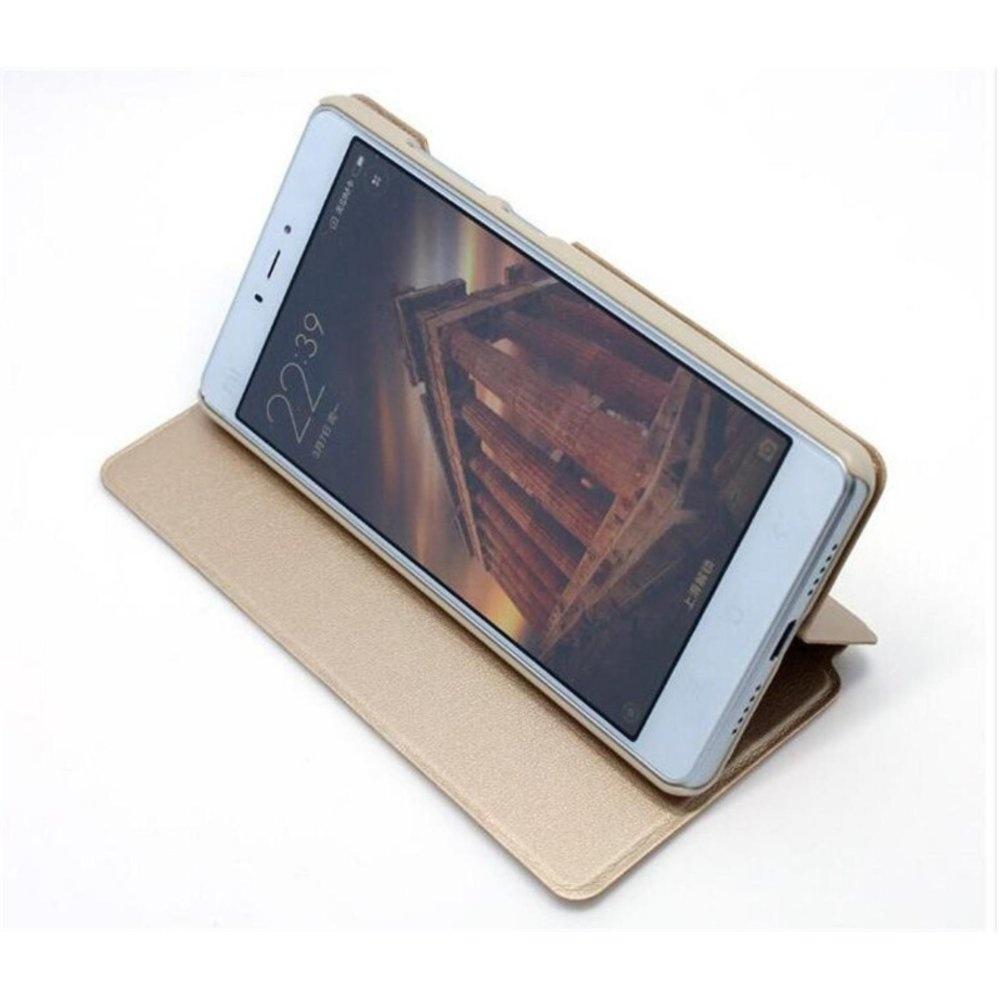 Mi Logo Flip Cover Leather Case For Xiaomi Redmi Note 4X - intl .