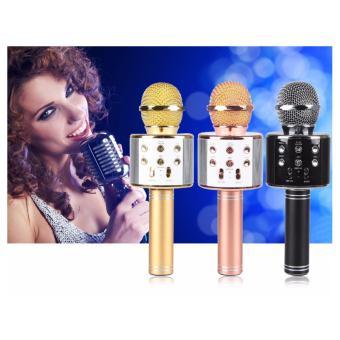 Mic hát Karaoke kiêm Loa bluetooth WS 858 LỌC ÂM CỤC CHUẨN