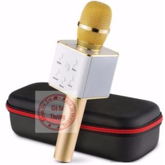 Micro hát karaoke bluetooth Q7 2017 new (vàng)