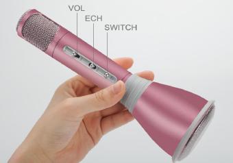 Micro karaoke kèm loa K068i (Hồng)