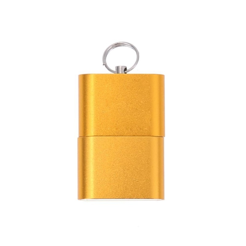 Bảng giá Mini Aluminium Alloy USB 2.0 T Flash TF Micro SD Memory Card Reader Adapter(Gold) - intl Phong Vũ