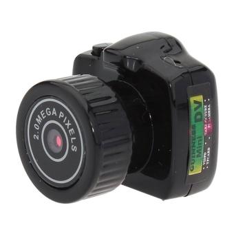 Mini HD Digital DV Webcam Camera VideoRecorderCamcorderY2000(Black) - intl