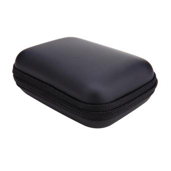 Mini Square EVA Case Headset Cable Storage Box(Black) - intl