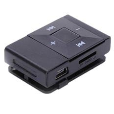 Mini USB Clip Digital Mp3 Music Player Support 8GB SD TF Card(Black)