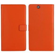 Moonmini Leather Flip Cover for Sony Xperia Z Ultra (Orange) - intl
