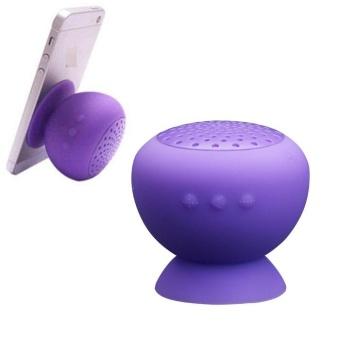 Mushroom Bluetooth Speaker Wireless Hands free Waterproof Purple - intl