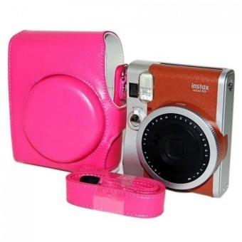 New PU Leather Camera Case Bag Holder For Fuji FUJIFILM Mini 90 red- intl