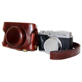 New PU Leather Protective Camera Bag Case Cover For Fujifilm X30 - intl