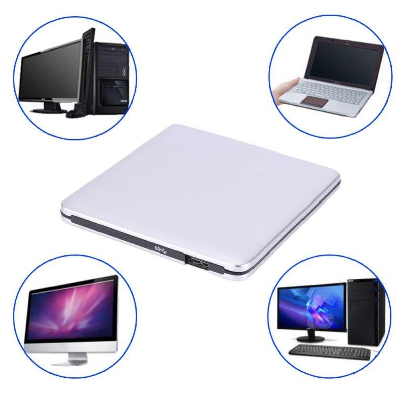 Bảng giá Ổ Đĩa Ngoài Di Động USB 3.0 DVD/CD-RW Mỏng Cho Máy Tính Xách Tay Màu Bạc - Quốc tế Phong Vũ