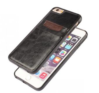 Ốp bao da Doanh Nhân iPhone 5-5S Kiêm ví tiền (Đen) - 2