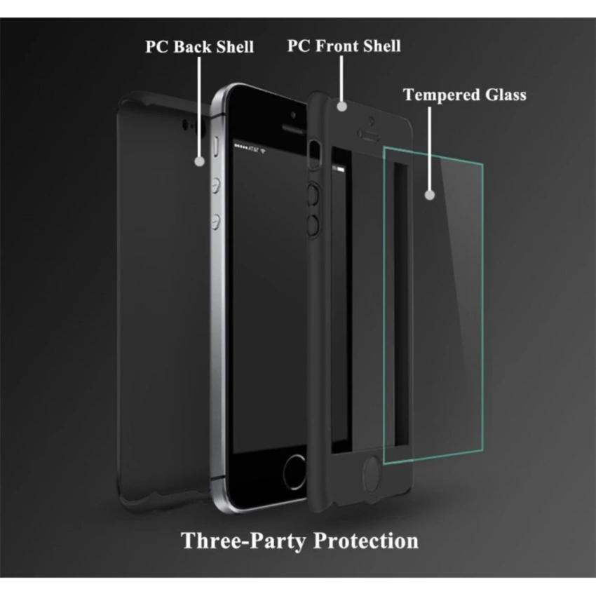 Hình ảnh Ốp lưng 360 dùng cho Iphone 5/5S/5SE - TẶNG KÍNH CƯỜNG LỰC CAO CẤP