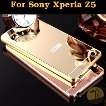 Ốp lưng cho Sony Z5 viền nhôm tráng gương