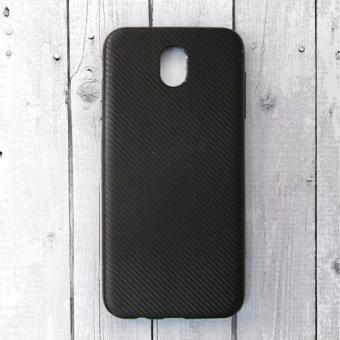 Ốp lưng dẻo cho Samsung Galaxy J7 Pro vân carbon (Đen)
