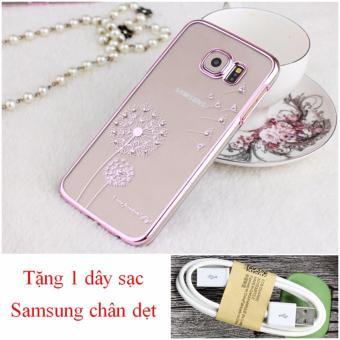 Ốp lưng điện thoại Samsung Galaxy S6 Edge bồ công anh tặng dây cápsạc