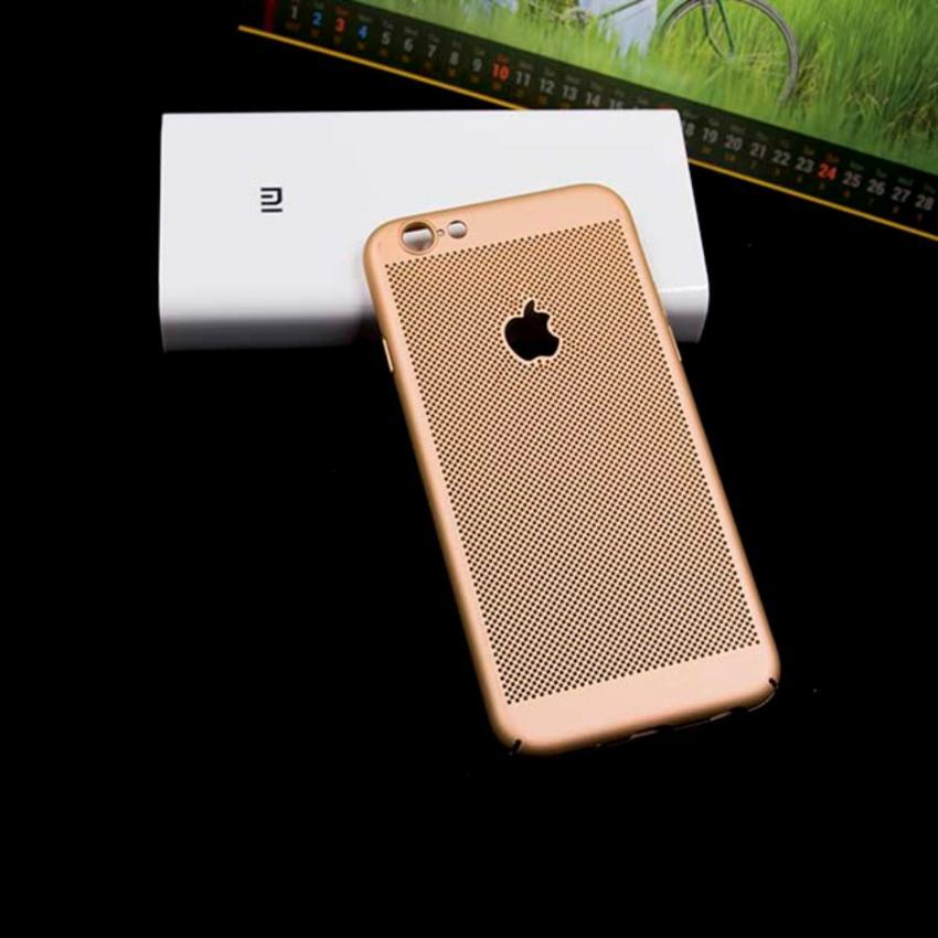 Hình ảnh Ốp lưng tản nhiệt chống vân tay cho iPhone 6/6S LOGO KHẮC TÁO 5 MÀU