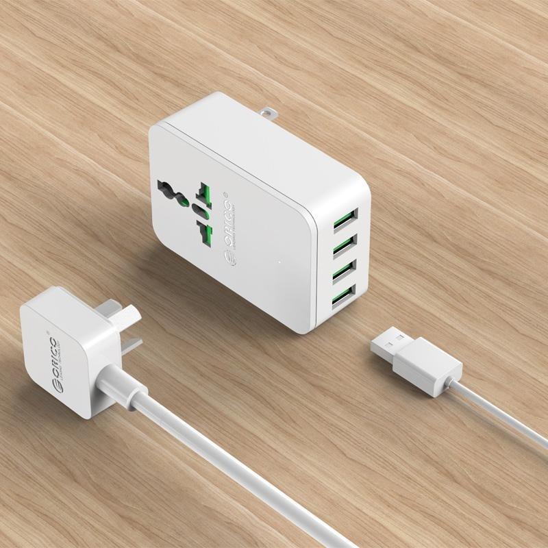 Bảng giá ORICO S4U 20W Universal Power Plug Travel Converting Adapter with 4 USB Charging Ports EU - intl Phong Vũ