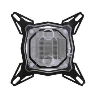 PC Water Cooling Block Pure Red Copper Base Inner Channel for Intel CPU (Transparent) - intl