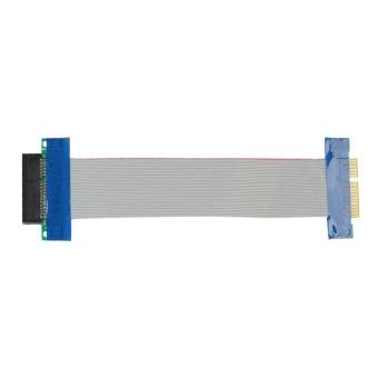 Giá tốt cho PCI-E 4X Riser Card Extender Flex Extension Cable Ribbon Adapter (White) – intl