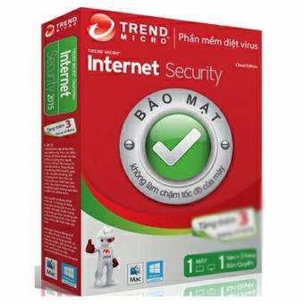 Phần mềm diệt virus Trend Micro Internet Security bản quyền 1 Máy 1Năm