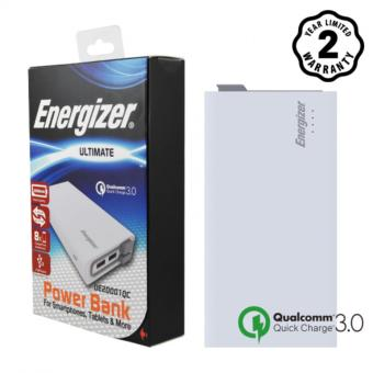 Pin sạc dự phòng Energizer 20,000mAh Li-Po QC 3.0 3 Cổng (Trắng) - UE20001QC