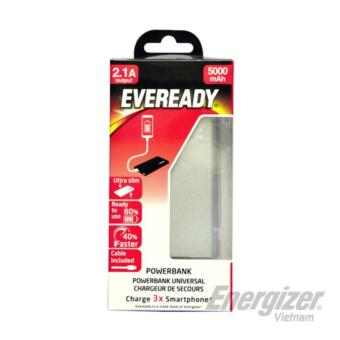 Pin sạc dự phòng Eveready Energizer 5.000mAh (Silver) - phân phối chính hãng