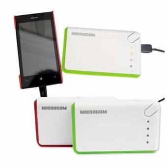 Pin Sạc Dự Phòng Microcom 10000mAh (Trắng Phối xanh )