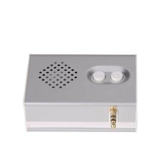 Portable Mini HIFI 3D Surround 3.5mm Jack Cube Speaker (Silver) -intl