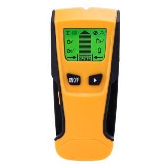 Portable Stud Center Finder Wall Metal AC Live Wire Scanner Metal Detector (Orange) -