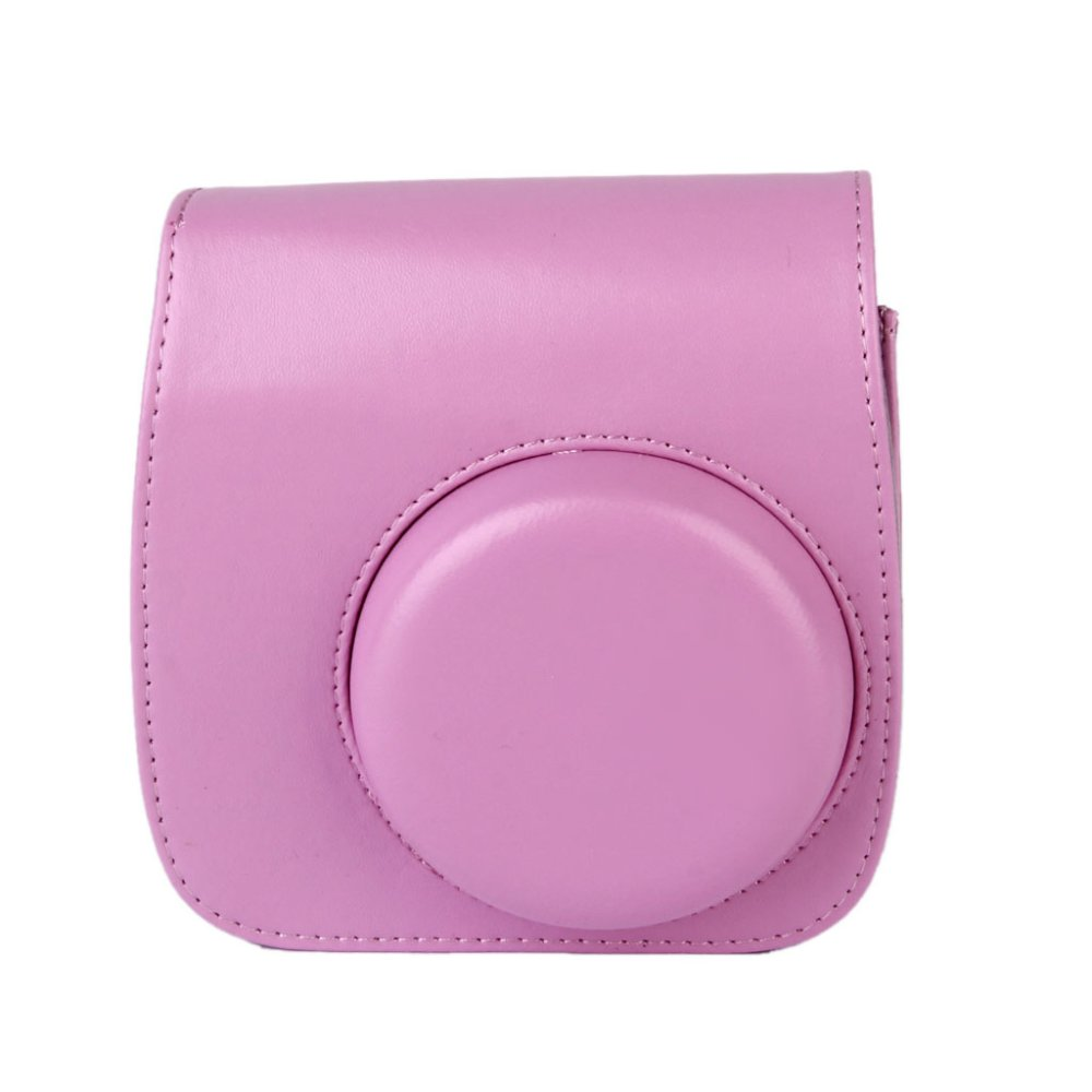 PU Leather Camera Bag Shoulder Strap for Fuji Fujifilm Instax Mini8 (Pink) - Intl