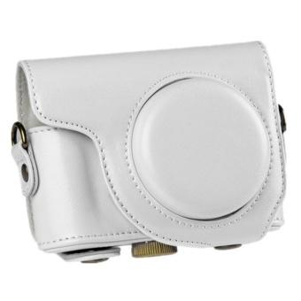 PU Leather Camera Bag with Strap for Casio ZR2000 ZR3500 White - intl - 8411592 , OE680ELAA8KUUHVNAMZ-16685367 , 224_OE680ELAA8KUUHVNAMZ-16685367 , 784980 , PU-Leather-Camera-Bag-with-Strap-for-Casio-ZR2000-ZR3500-White-intl-224_OE680ELAA8KUUHVNAMZ-16685367 , lazada.vn , PU Leather Camera Bag with Strap for Casio ZR2000