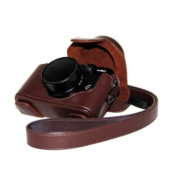PU Leather Camera Case Bag Cover for Fujifilm X10 X20 (Brown) - intl