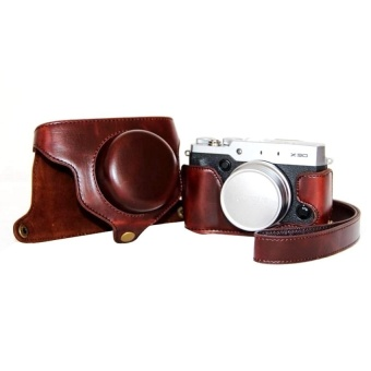 PU Leather Camera Case Bag Cover for Fujifilm X30 (Brown) - intl