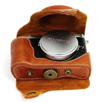 PU Leather Camera Case Bag Cover for Fujifilm X70 Brown(CameraNotIncluded) - intl