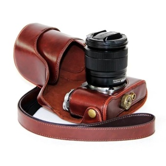 PU Leather Camera Case Bag Cover for Fujifilm XM1 XA1 XA2 Coffee - intl