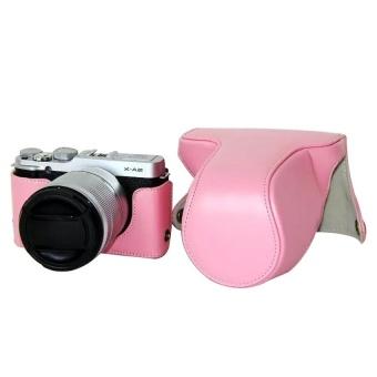 PU Leather Camera Case Bag Cover for Fujifilm XM1 XA1 XA2 Pink - intl